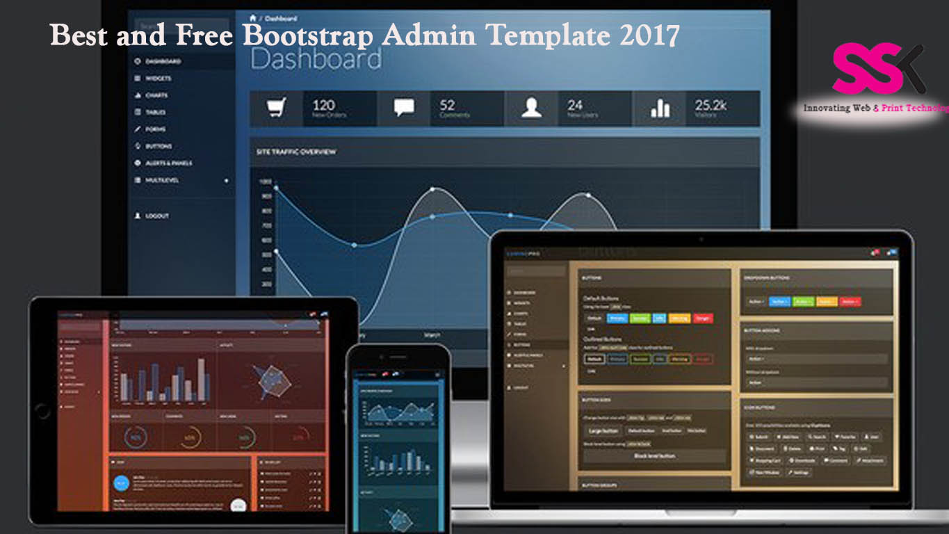 Best and free bootstrap admin template 2017 ssk web for Free bootstrap templates 2017